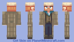 Van Gogh as portrayed in Doctor Who Minecraft Skin