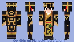 Chinese emperor - Young Ying Zheng + Crown Minecraft Skin