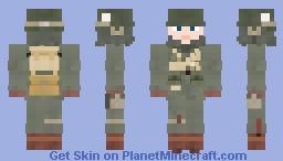 WW2 U.S Airborne Paratrooper(101st Airborne Division, Winter) Minecraft Skin