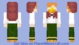 Кикимора-Inspired Bird Alexbrine in Traditional Russian Clothing Minecraft Skin