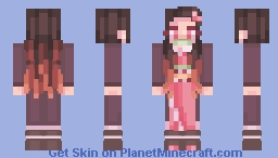 Nezuko Kamado - Kimetsu no Yaiba (Demon Slayer) Minecraft Skin