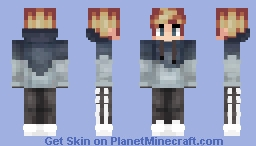 Milky blue and Dark Blue Hoodie Minecraft Skin