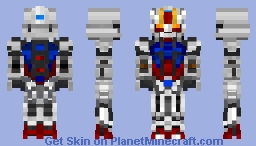 GAT-X105 Strike Gundam - remaStered Minecraft Skin