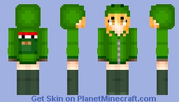 Creeper girl Anime Minecraft Skin