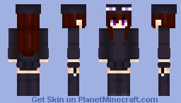 Ender girl Anime Minecraft Skin