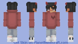 ^•∆•^ [with horns] Minecraft Skin