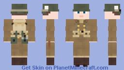 WW2 U.S Airborne Paratrooper (101st Airborne Division, Winter) V2 Minecraft Skin