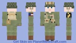 WW2 U.S Airborne Paratrooper (17th Airborne Division) V2 Minecraft Skin