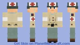 WW2 U.S. Army Combat Medic (1st Infantry Division) Minecraft Skin