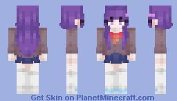 Yummy' - Yuri (from DDLC) @_@ Minecraft Skin