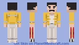 Freddie Mercury (live at Wembley) 1986 Minecraft Skin