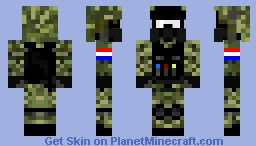 Croatian Soldier Minecraft Skin