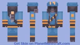BLU Firefighter Pyro Minecraft Skin