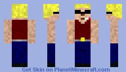 Duke Nukem Minecraft Skin