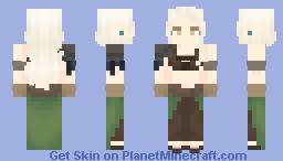 Druid-ish elf Minecraft Skin