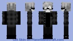 White-black emo boy Minecraft Skin