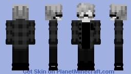White-black emo boy V2 Minecraft Skin