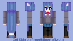 Tsumiki Miniwa (御庭 つみき) | Acchi Kocchi (あっちこっち) | Anime cartoon Minecraft Skin