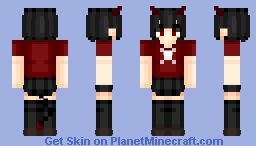 Demon girl | Anime wallpaper Minecraft Skin