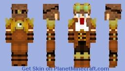 Steampunk Girl in Light Armor Minecraft Skin
