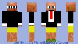 Agent 47 (Hitman) in underwear. Minecraft Skin
