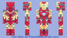 Iron Man | Marvel Cinematic Universe | Avengers: Endgame Minecraft Skin