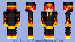 Fire Snapback - Fire & Ice Series Minecraft Skin