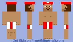 Swim suit Mario Minecraft Skin
