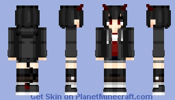 Demon girl v2 | Anime wallpaper Minecraft Skin