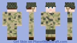 WW2 U.S Airborne Paratrooper Pathfinder Minecraft Skin