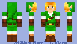 Adult Link from The Legend of Zelda: Ocarina of Time Minecraft Skin