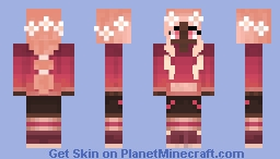 fall in love with flowers Minecraft Skin