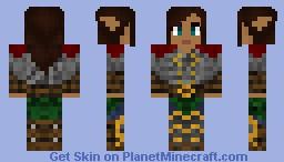 Female Elven Guard Minecraft Skin