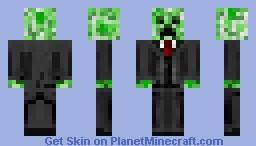 business creeper Minecraft Skin