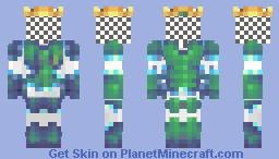 Mr. Macussay, King of Axolotls Minecraft Skin