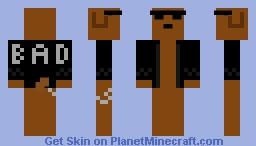 Bad dog with sunglasses Minecraft Skin