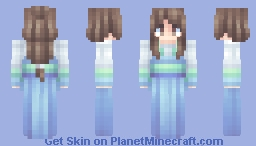 Blue-White Long-sleeve Chinese traditional dress Minecraft Skin