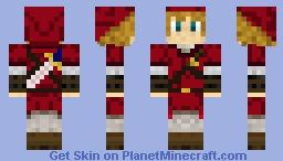 Red link zelda Minecraft Skin