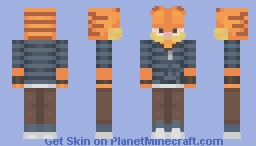 rantaro amami but for some reason it's garfield Minecraft Skin
