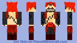 Kirishima Eijiro Minecraft Skin