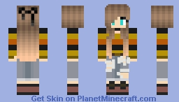Candy Corn Girl Minecraft Skin