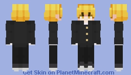 Demon Slayer - Zenitsu - School Days Minecraft Skin