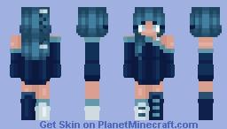 Aquarius (Zodiac Series) - Blue Elegance Minecraft Skin