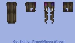 Cute brunette hair base Minecraft Skin