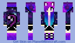 Galaxy Cat Girl Minecraft Skin