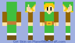 Link's Awakening Nintendo Switch ( Link ) Minecraft Skin