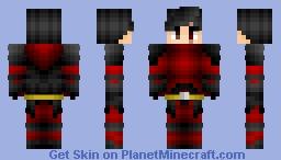 Custom Deadpool W/ Red eye & Scar Minecraft Skin