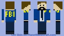 Agente Stan FBI Minecraft Skin