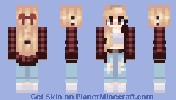ℓυиαѕσαℓ - Flannel Blondie Minecraft Skin