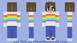 If u don't like unicorns... u GOTTA like rainbows!!!! Minecraft Skin